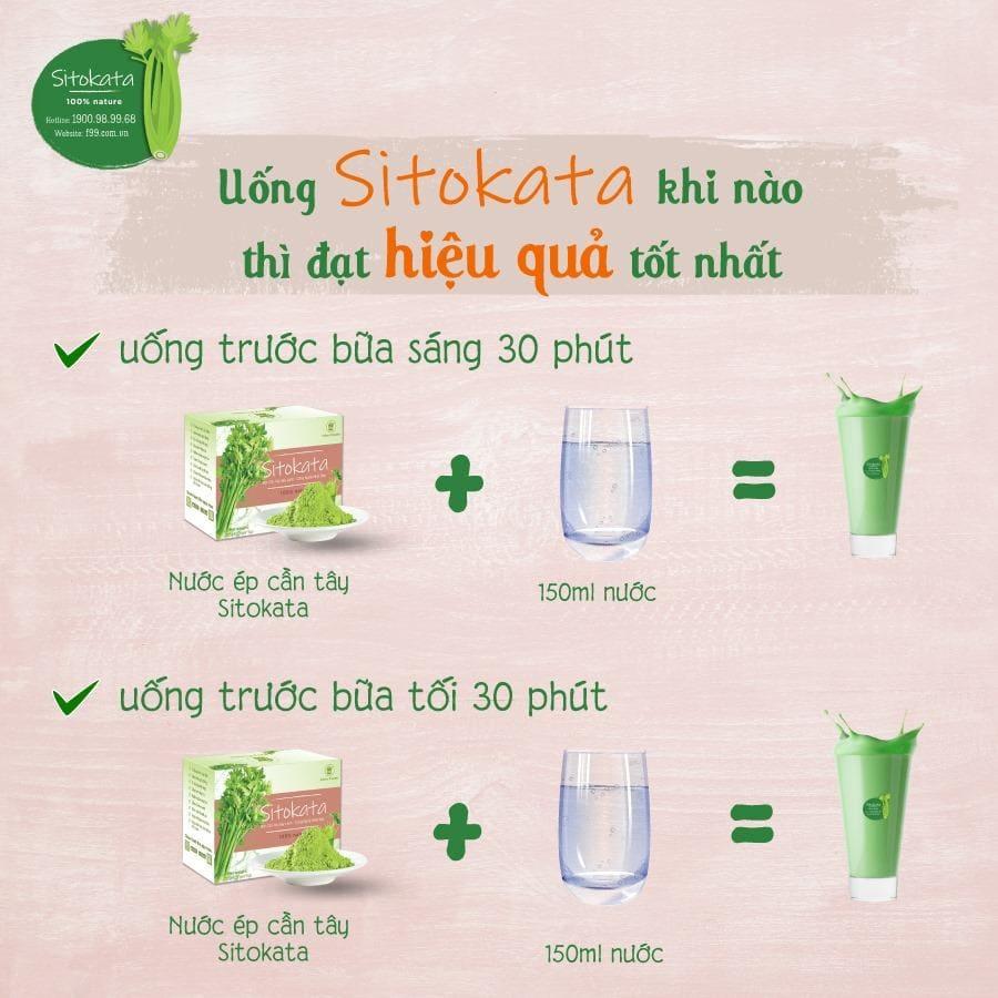 Hướng dẫn sử dụng bột cần tây Sitokata